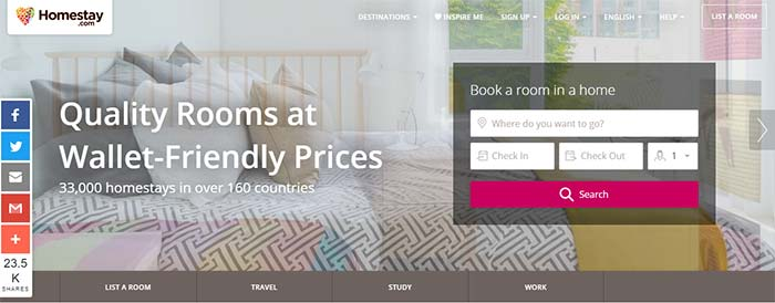websites like airbnb