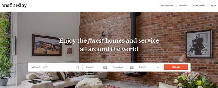 airbnb alternative - onefinestay