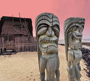 Hawaii - The Big Island Attraction: Pu'uhonua o Honaunau National Historical Park (Kona Coast)