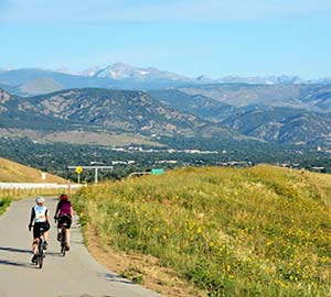 Boulder Attraction: Cyclists Riding