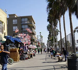 Los Angeles Attraction: Venice Beach and Boardwalk