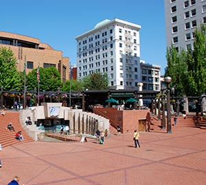 Portland Attraction: Pioneer Courthouse Square