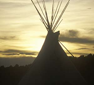 Taos Attraction: Teepee Silhouette
