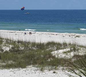 Orange Beach Alabama  Condo Rentals Attraction: Parasailing at Orange Beach