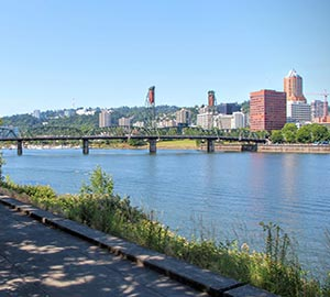 Portland Attraction: Waterfront bike path