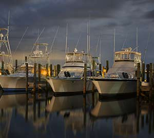 Moored Boats in orange beach