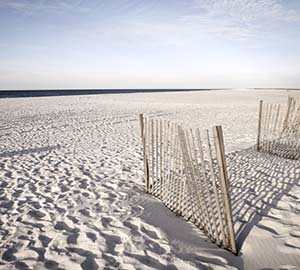 White Sand Dunes in orange beach