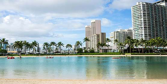 Waikiki Beach -Best Beaches Destinations in the US
